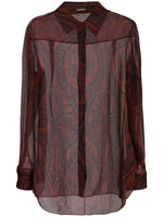 MENSWEAR SHIRT IN PRINTED CHIFFON