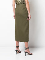 PENCIL SKIRT IN DOUBLE FACE WOOL