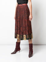 PLEATED SKIRT IN PRINTED CHIFFON