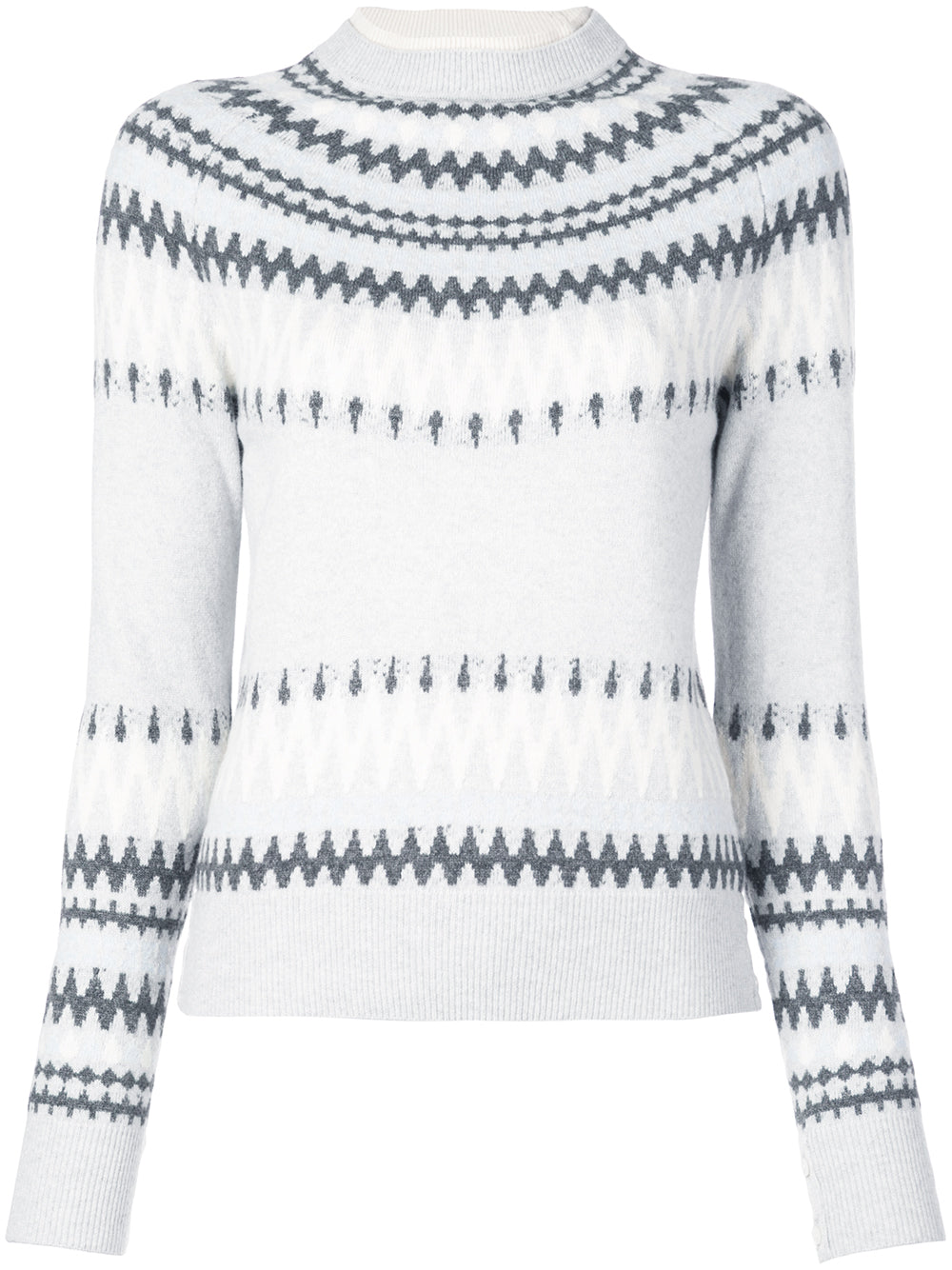 WOOL CASHMERE FAIRISLE CREWNECK SWEATER