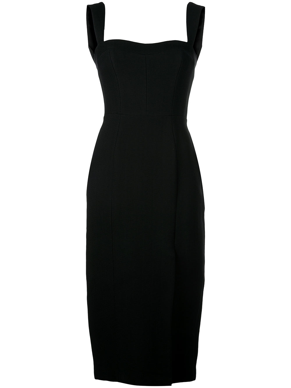 STRETCH SABLE FITTED DRESS
