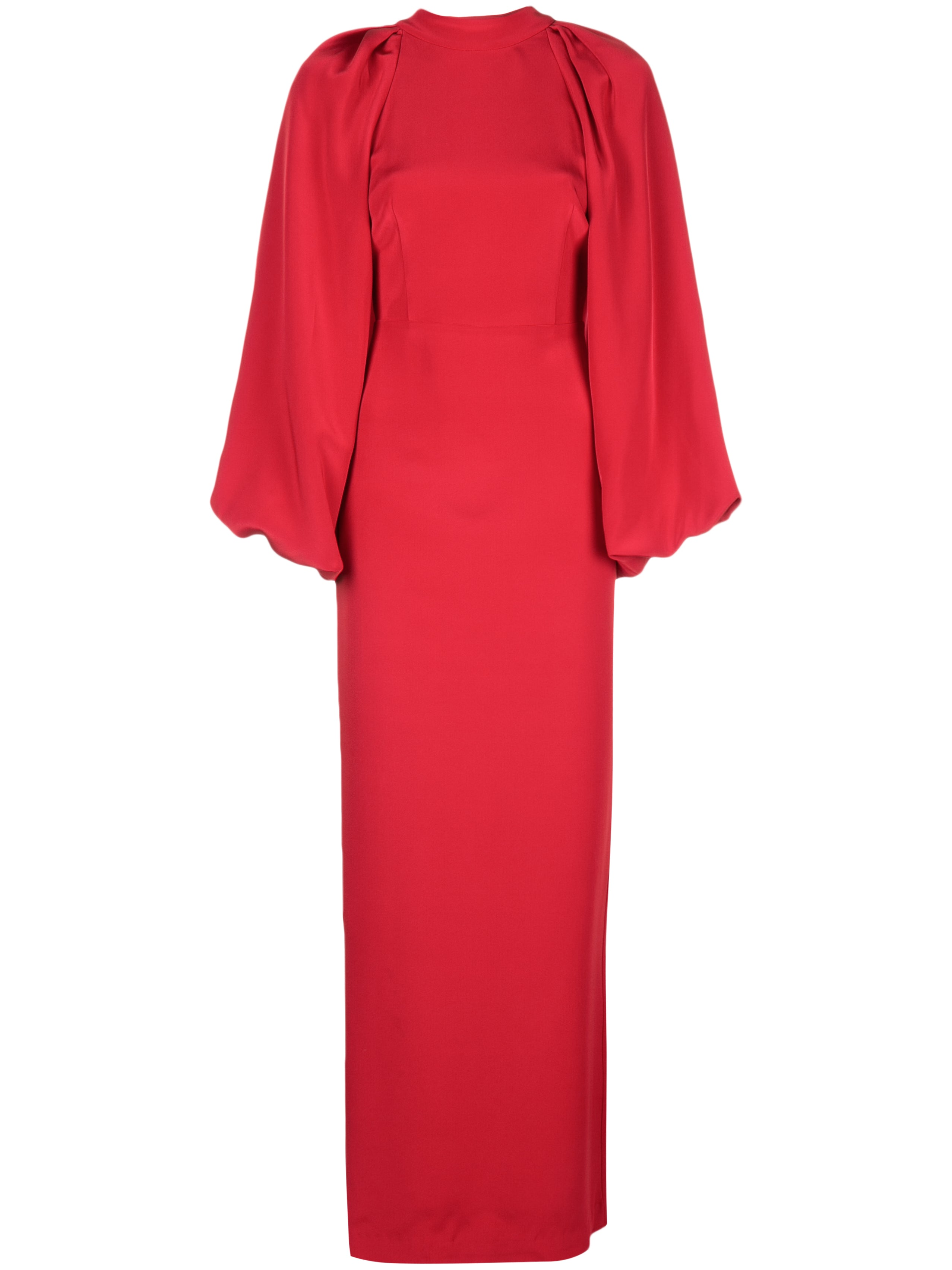 PUFF SLEEVE GOWN IN SILK CREPE