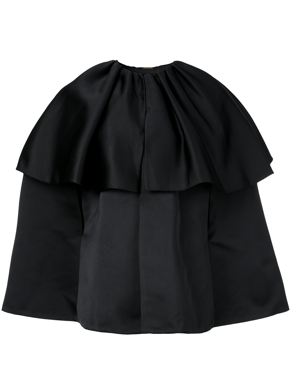 DUCHESS SATIN TIERED CAPE