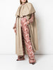 TIERED LONG CAPE IN COTTON TWILL