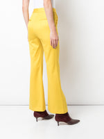 TROPICAL WOOL BELL CROP PANT