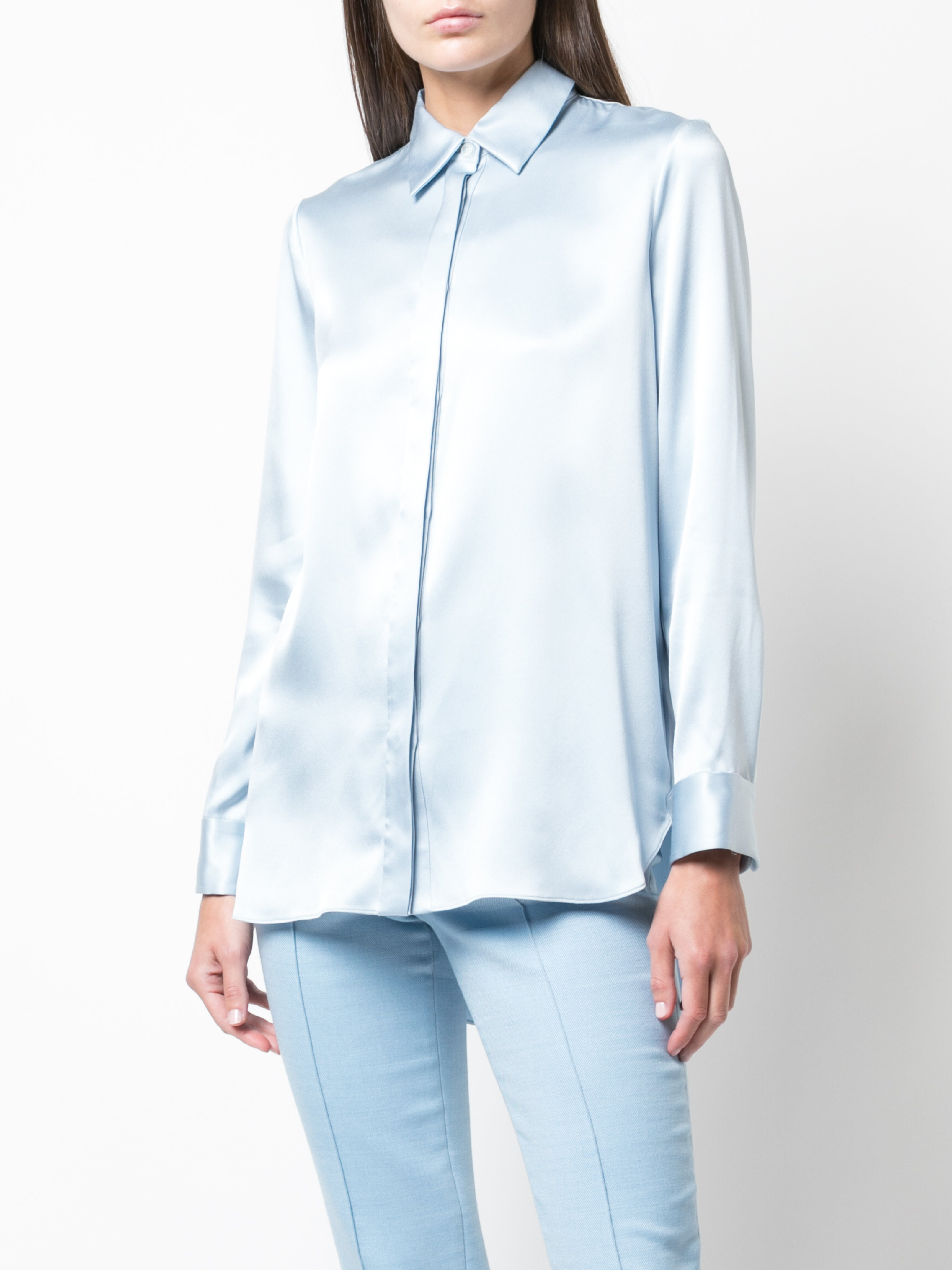 SILK CHARMEUSE MENSWEAR SHIRT