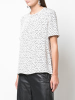 T-SHIRT IN PRINTED CREPE