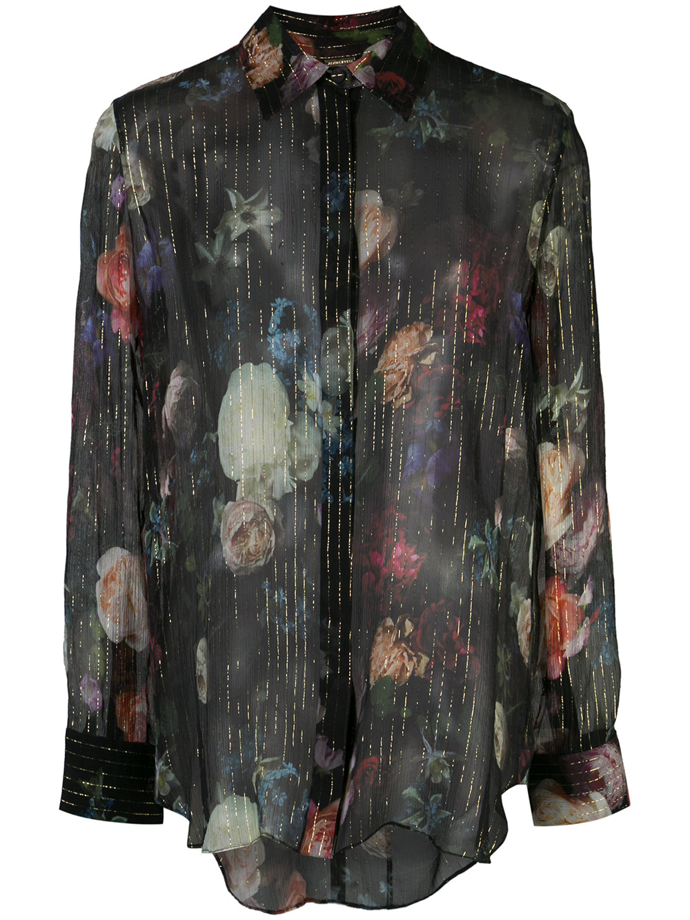 MENSWEAR TOP IN PRINTED CHIFFON