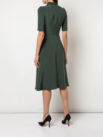 TWIST NECK DRESS IN CREPE