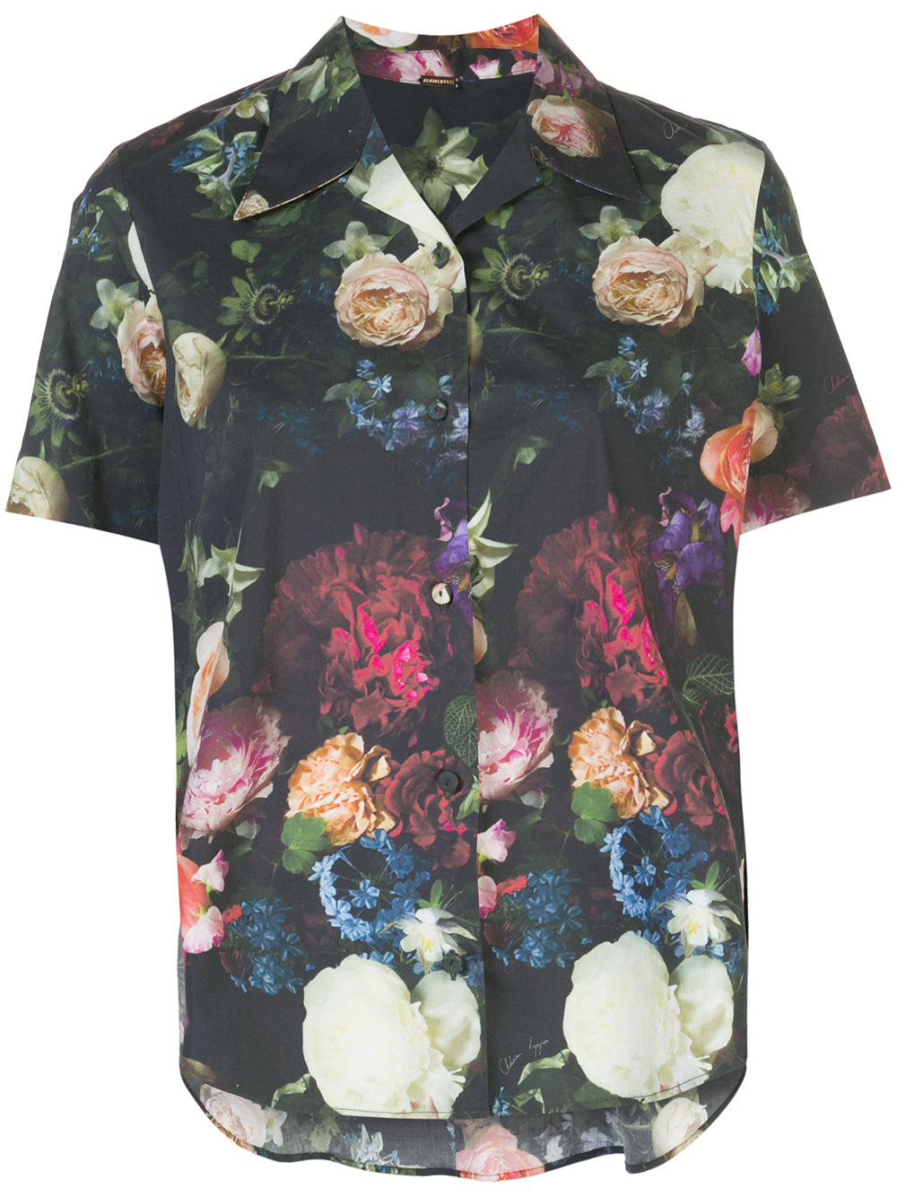 HAWAIIAN TRAPEZE TOP IN PRINTED POPLIN