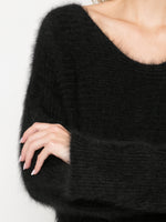 BOATNECK TEXTURED KNIT IN MOHAIR