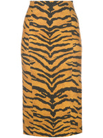PENCIL SKIRT IN PRINTED STRETCH VISCOSE