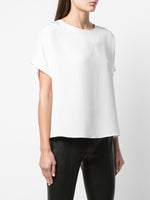 SHORT SLEEVE DOLMAN TOP IN CREPE