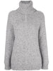 RAGLAN SLEEVE TURTLENECK IN MARLED CASHMERE