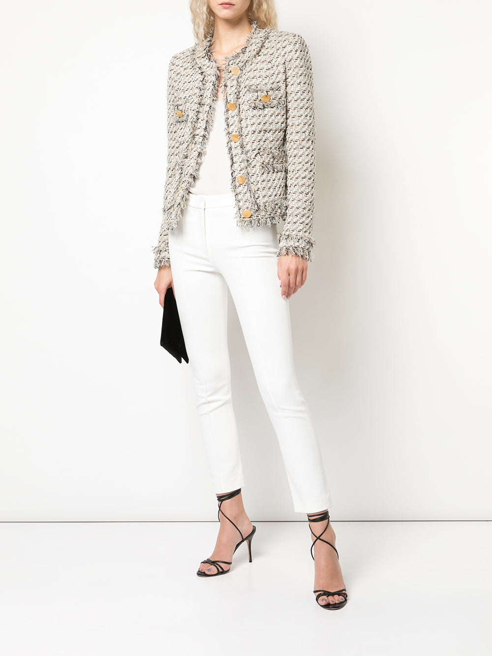 TAILORED JACKET WITH POCKETS IN TWEED