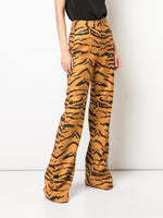 RELAXED WIDE-LEG TROUSER IN PRINTED STRETCH VISCOSE