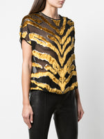 SHORT SLEEVE DOLMAN TOP IN BURNOUT VELVET
