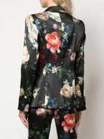 TAILORED BLAZER IN PRINTED SATIN