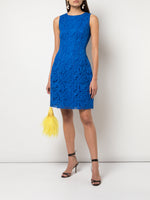 SEAMED FLARE DRESS IN CORDED LACE