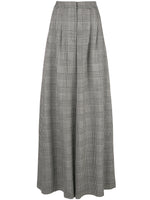 WIDE-LEG PANT IN DOUBLE FACE PLAID WOOL