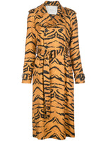 TRENCH COAT IN PRINTED STRETCH VISCOSE