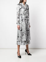 TRENCH COAT IN PRINTED ORGANZA
