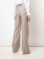 PINTUCK WIDE-LEG TROUSER IN HOUNDSTOOTH