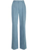 PINTUCK WIDE-LEG TROUSER IN STRETCH DENIM