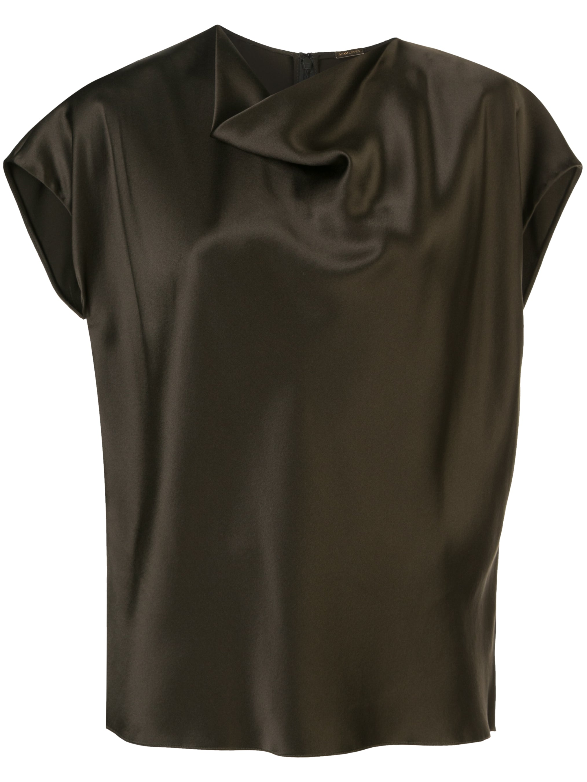 COWL NECK TOP IN SILK CHARMEUSE