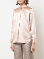 MENSWEAR SHIRT IN SILK CHARMEUSE
