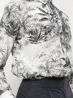 MENSWEAR SHIRT IN PRINTED VOILE