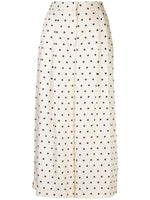 PLEAT FRONT CULOTTE IN PRINTED TWILL