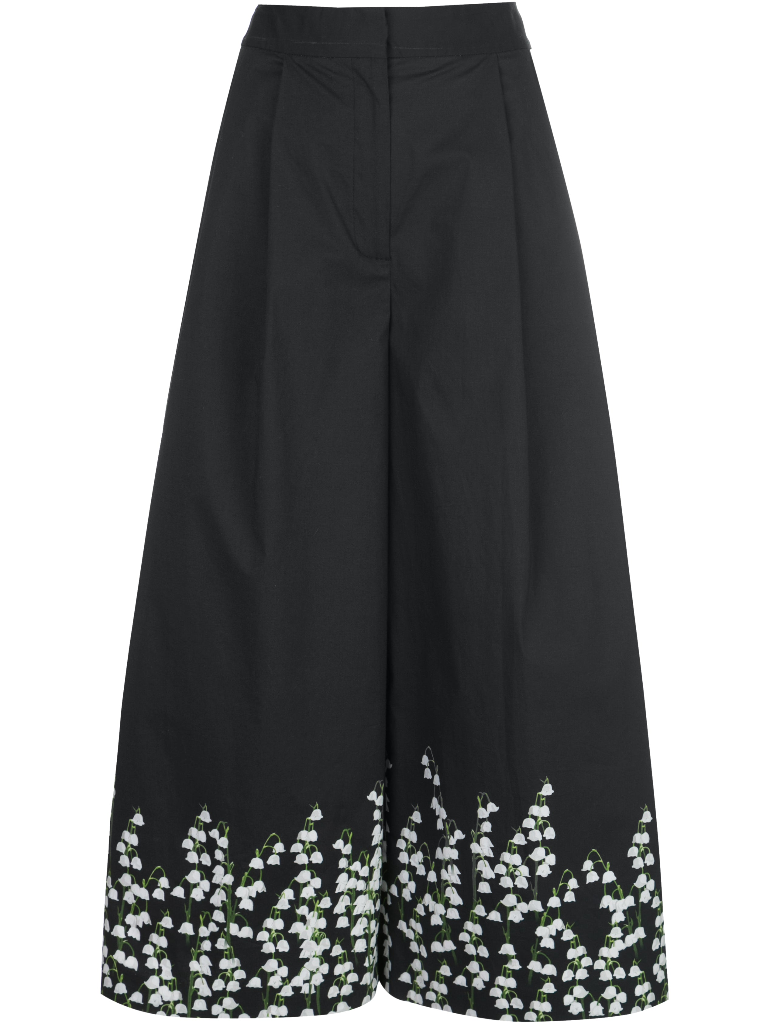 PLEAT FRONT CULOTTE IN PRINTED POPLIN
