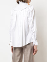SMOCKED NECK TOP IN COTTON