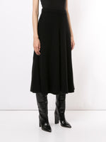 CIRCLE SKIRT IN BRUSHED ITALIAN CASHMERE