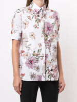 SHORT SLEEVE MENSWEAR SHIRT IN ITALIAN COTTON POPLIN
