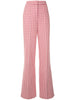 PINTUCK WIDE-LEG TROUSER IN COTTON JACQUARD HOUNDSTOOTH