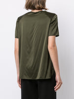 CREWNECK T-SHIRT IN SILK CHARMEUSE
