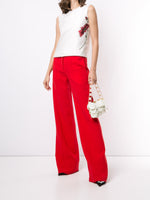 PINTUCK WIDE-LEG TROUSER IN WOOL CREPE