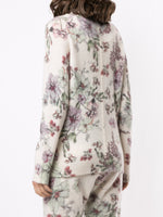 V-NECK SWEATER IN PRINTED SILK CASHMERE