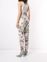 JOGGER SWEATPANT IN PRINTED SILK CASHMERE