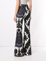 FLARE PANT IN PRINTED TWILL