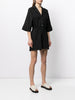 SHORT SLEEVE ROMPER IN COTTON TWILL