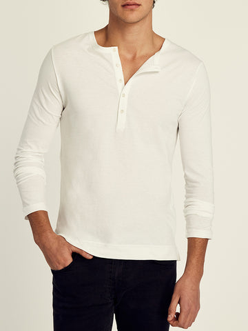 Pima Cotton Long Sleeve Crewneck T-shirt