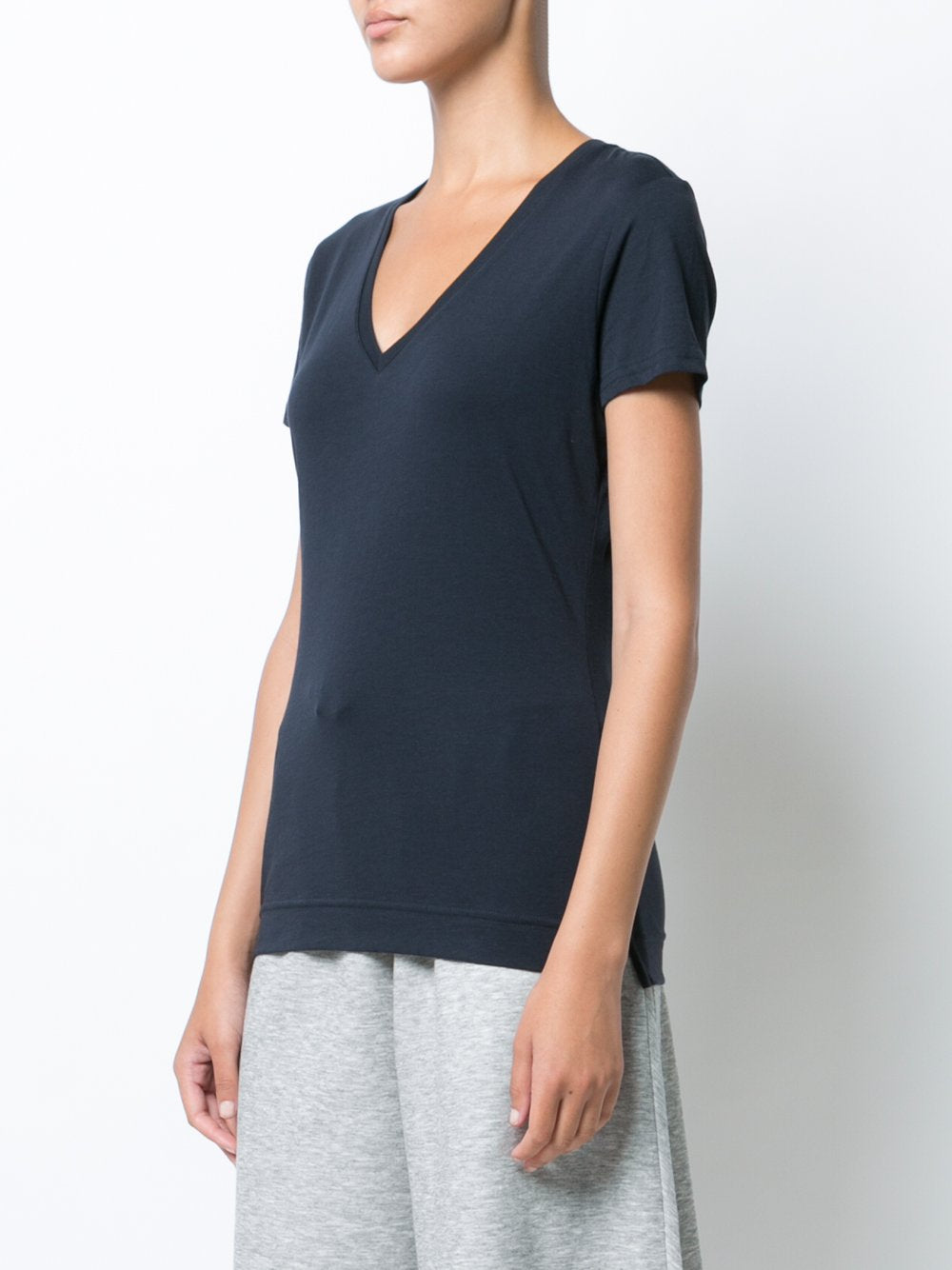 SHORT SLEEVE V-NECK T-SHIRT IN PIMA COTTON