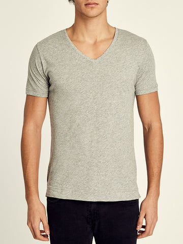 Cotton Short Sleeve V-Neck Shirt