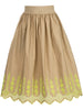 SHIRRED SKIRT IN BRODERIE ANGLAISE