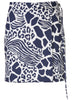 WRAP MINI SKIRT IN PRINTED COTTON TWILL