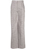 PINTUCK WIDE-LEG PANT IN SILK LINEN PLAID