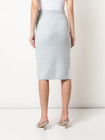 PENCIL SKIRT IN SILK WOOL CASHMERE